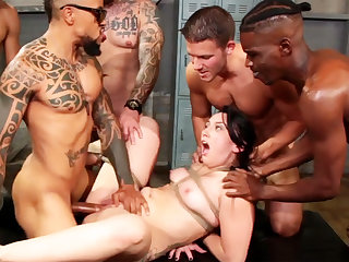 Strapped black-haired luvs her highly first-ever bi-racial group-nail