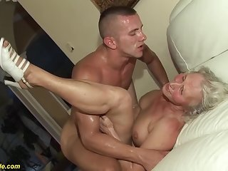 sex-mad 76 adulthood old granny gives a wikd teat fuck and pioneering deepthroat be expeditious for her young toyboy