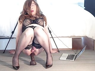 The Slut lining Me - Solo Super Anal Fuck