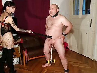 Beth Weird - Sexy goth domina cbt added to belly punch their way slave pt2 HD