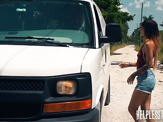 Kitty Carrera gets fucked by a stranger and that guy is an senior well-skilled