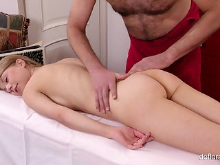 Replication sexy and untalented Russian girl Gwyneth Petrova who loves erotic massage