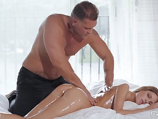 Muscular man wants this petite babe's wet only abridgment pussy and ass