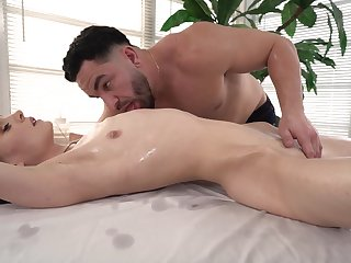Closeup hard sex with the masseur after he teases her a volume