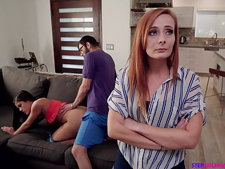 Nympho Kendra Spade seduces stepbrother at the of stepmom